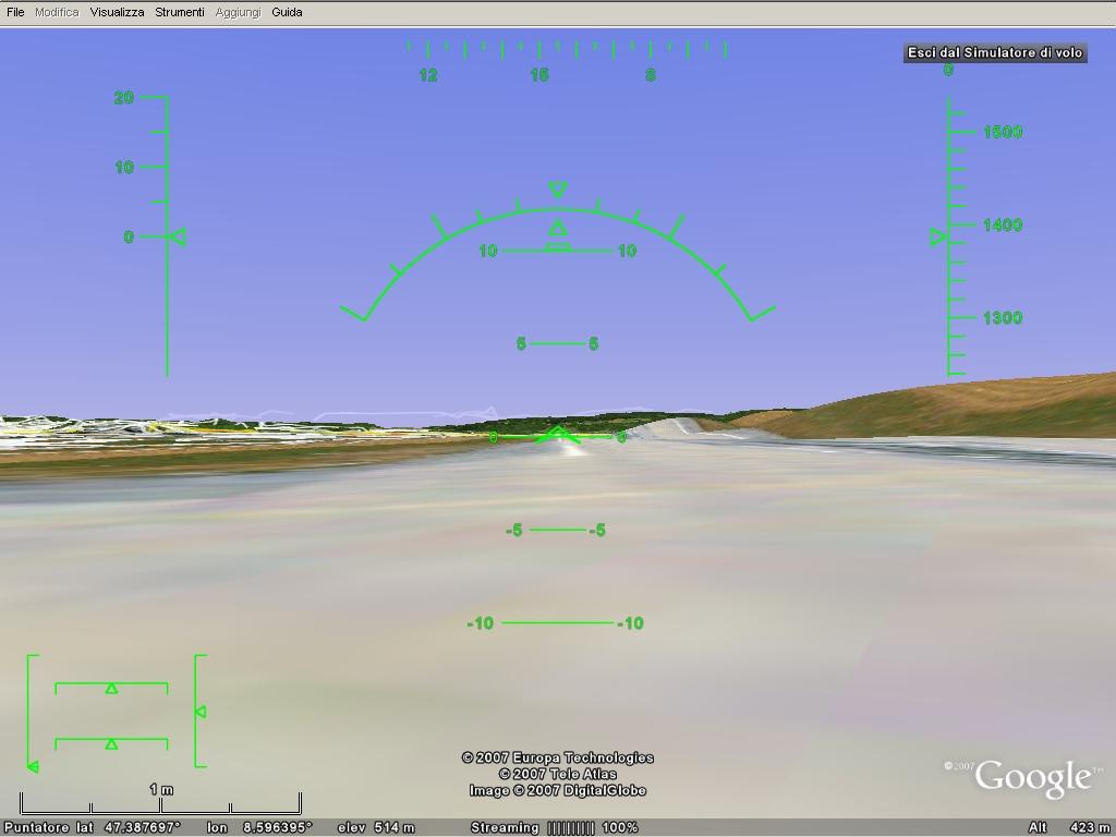 simulatore di volo google earth